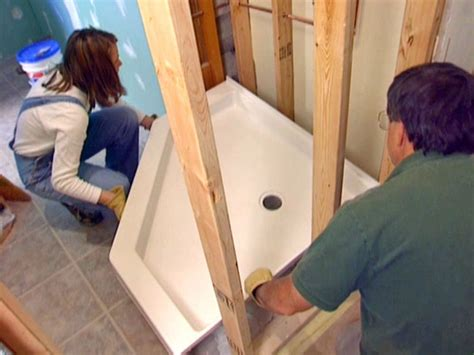 Putting In A Shower Pan by How To Install A Corner Shower How Tos Diy