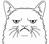 Grumpy sketch template