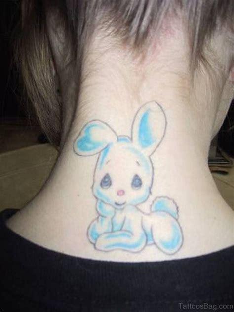 extraordinary rabbit tattoos  neck