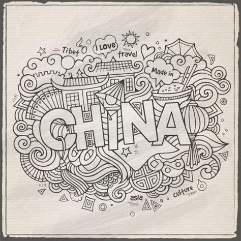 china black  white doodle black white doodle