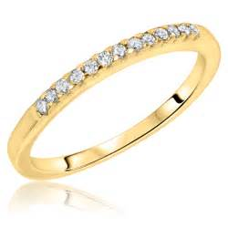 gold womens wedding rings 1 8 ct t w 39 s wedding band 10k yellow gold my trio rings bt106y10kl