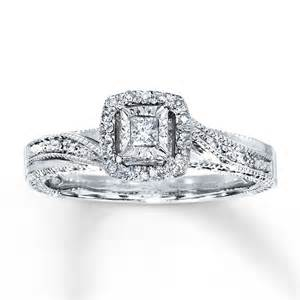jewelers s wedding rings sterlingjewelers ring 1 6 ct tw princess cut sterling silver