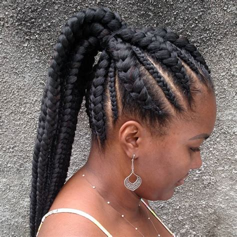 ladies only top rated latest black braided hairstyles