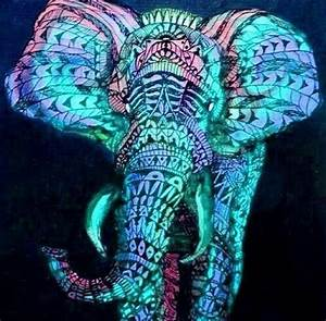 Colorful elephant | Elephants | Pinterest