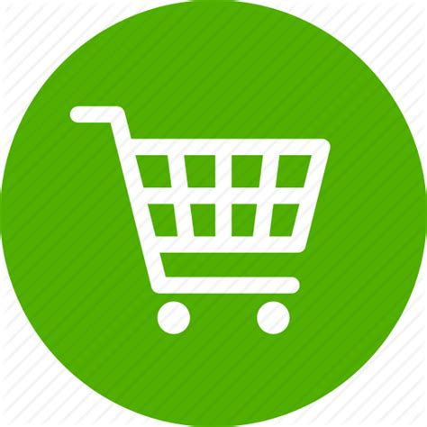 buy cart circle ecommerce green shopping trolley icon icon search engine