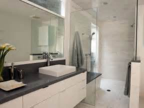 White And Gray Bathroom Ideas Light Airy Contemporary Bathroom Christopher Grubb Hgtv