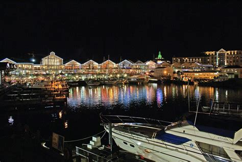 cape town waterfront  night