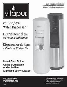 Vitapur Water Dispenser Use  U0026 Care Guide