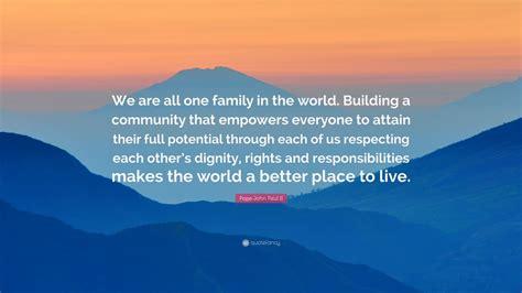 pope john paul ii quote     family