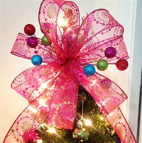 diy christmas tree bow topper the denver housewife