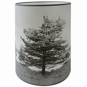 Abat Jour Noir Et Blanc : abat jour cylindrique arbre en hiver noir et blanc ~ Teatrodelosmanantiales.com Idées de Décoration