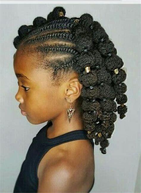 coupe de cheveux petite fille afro