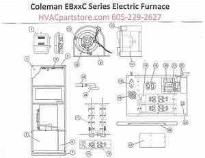 Eb15c Coleman Electric Furnace Parts  U2013 Hvacpartstore