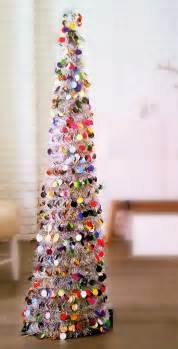 5 ft collapsible tinsel tree pop up slim tree for christmas red ebay