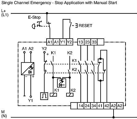 Cat 3 Safety Diagram by R1 188 0500 1 Wieland Sno 4003 24 V Ac Dc Safety Relay