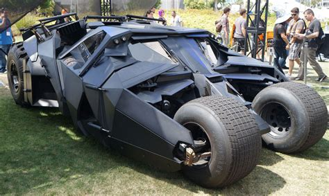 christian bales batmobile  batman begins   dark