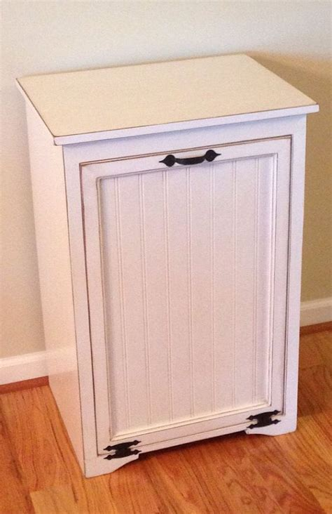 Large Tilt Out Trash Can Cabinet by TinBarnCreations on