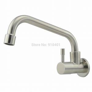 Wholesale and retail promotion wall mounted kitchen faucet for Single handle wall mount kitchen faucet