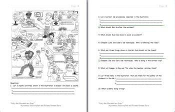 lab safety cartoon worksheet answer key cartoon  lab