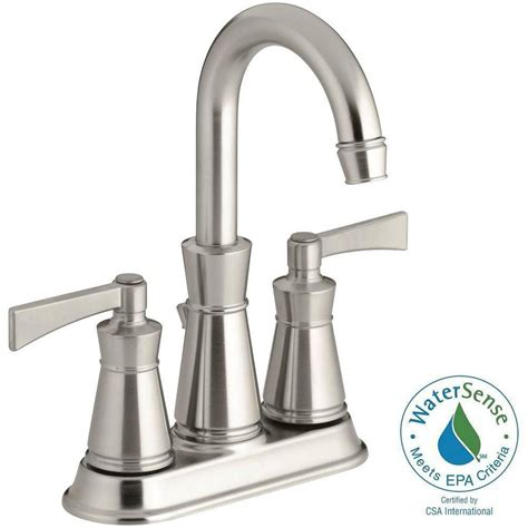 kohler kelston 4 in 2 handle mid arc water saving