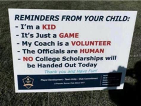 Youth Soccer Club Sends Strong Message To Parents. Theme Park Signs. Menu Signs. East Side Signs Of Stroke. Small Town Signs. Diagnosis Signs. Public Speaking Signs. Cheat Sheet Signs Of Stroke. Lewy Body Signs Of Stroke