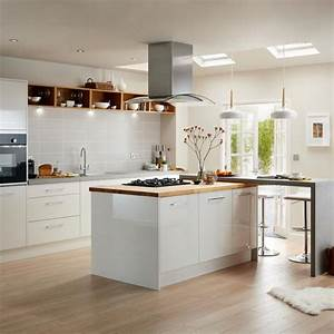 kitchens kitchen worktops cabinets diy at bq With kitchen colors with white cabinets with sticker machine printer