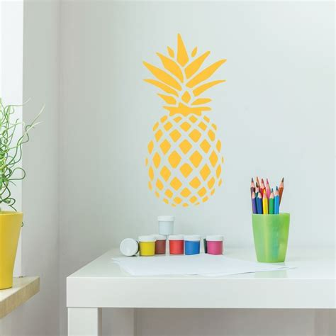 pineapple home decor kitchen pineapple decor vinyl wall decal with hawaiian pineapple