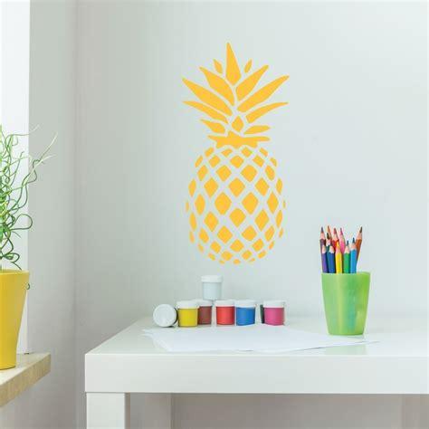pineapple decor vinyl wall decal with hawaiian pineapple design pineapple decor pineapple