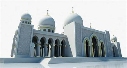 Mosque Building 3d Icon Wirecase3d