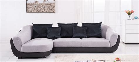 canapé d angle en canapé d 39 angle gauche tissu gris colorado