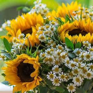 sunflower delivery sunflower and garden bouquet by the flower studio