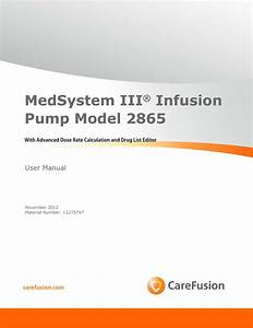Medsystem Iii U2122 2865 User Manual