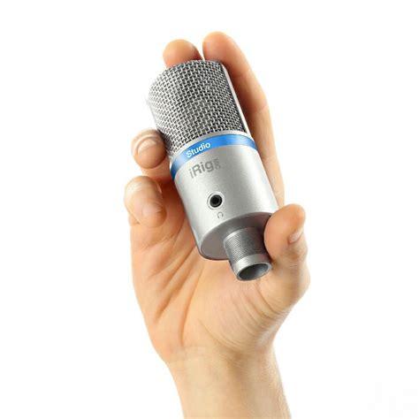 mic for iphone ik multimedia irig mic studio condenser microphone for