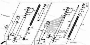 Honda Motorcycle 2010 Oem Parts Diagram For Front Fork
