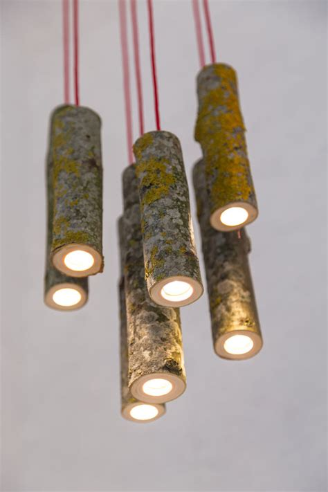 bio mass lights made from real tree branches digsdigs