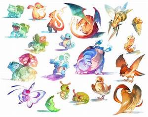 Watercolor Pokemon 001 018