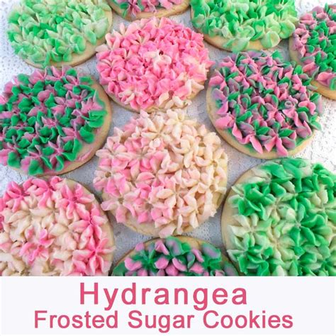 hydrangea frosted sugar cookies  sisters