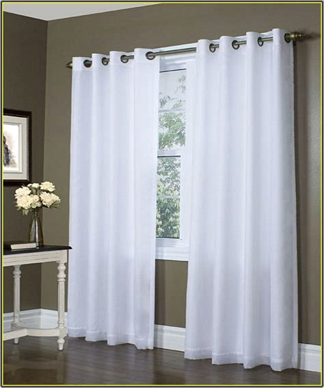 grommet blackout curtains white curtain  home