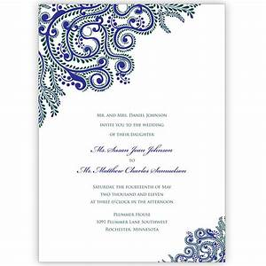 Printable vines indian wedding invitations digital files for Digital wedding invitation cards india