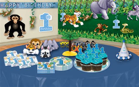 Jungle First Birthday Party Ideas