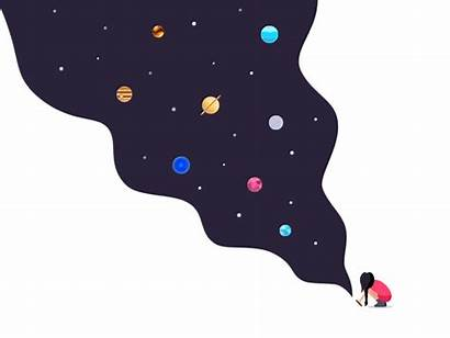 Galaxy Dribbble Motion Vector Animated Animation Days