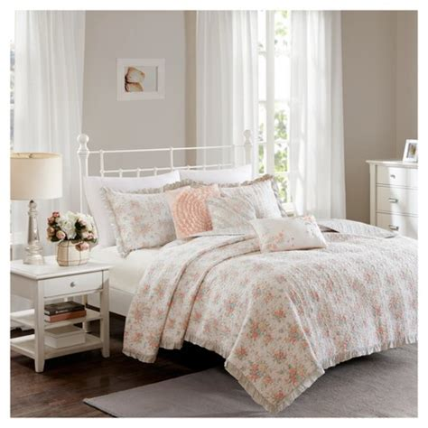 coral desiree cotton percale quilt set target