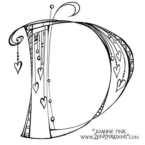 monograms zenspirations inspirational doodles tattoo lettering fonts alphabet coloring