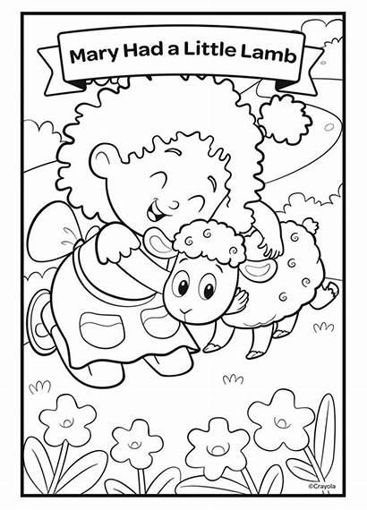 Lamb Coloring Nursery Had Mary Crayola Rhymes
