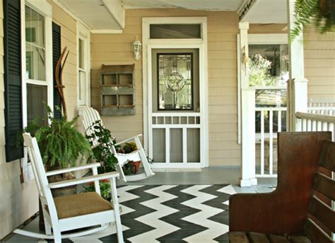 add pizzaz   porch   painted rug life