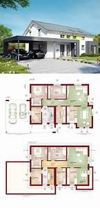 Bauen Zweifamilienhaus Grundriss : zweifamilienhaus modern mit satteldach und carport haus ~ Lizthompson.info Haus und Dekorationen