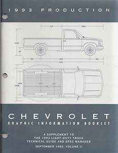 1993 Chevy C  K Pickup  Suburban  Blazer Wiring Diagram Manual Original