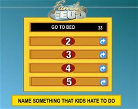 family feud template slides family feud powerpoint template best one i could find great sounds easy to use