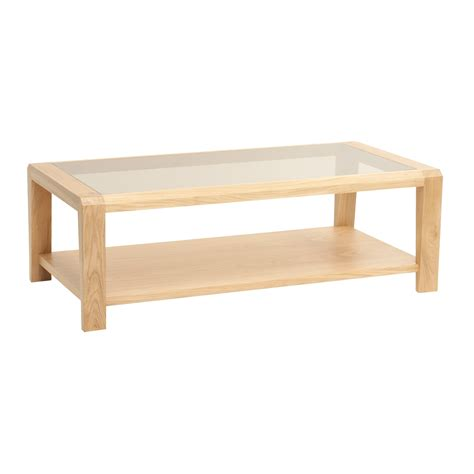 oak coffee table with glass top oak coffee table with glass top and shelf furniture outlet