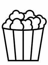 Popcorn Coloring Fun Vormen Eten Kleurplaat Shapes Kleurplaten Malvorlage Stemmen Stimmen sketch template